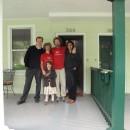 Abschiedsfoto von Erik mit Familie