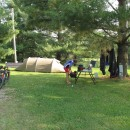 letzter Zeltplatz mit altem Zelt