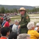Der Ranger hält einen Vortrag