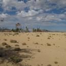 Parkplatz eines Waterworld resorts ohne Wasser