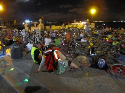 Geocachingevent - nachts mit dem Rad durch Lissabon