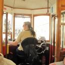 Tramfahrerin - gut gelaunt und fröhlich