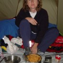 Kochen im Zelt