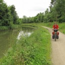 am Canal l`Ourcq entlang nach Paris